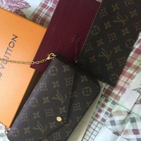 PEAPDC0 Louis Vuitton Pochette Felicie Monogram Wallet Authentic