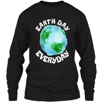 Earth Day Shirt Everyday Conservation Plant Nature Lover Tee LS Ultra Cotton Tshirt
