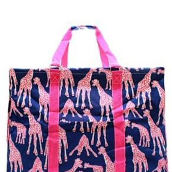 Utility Tote Extra Large - Giraffe Print - 2 Color Choices