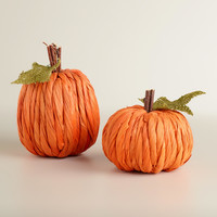 Cornhusk Pumpkins, Set of 2 - World Market
