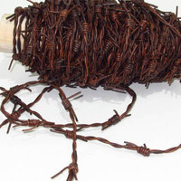 Leather barbed wire, 25 yards of a antique brown color made with 2 mm leather cords....  2576