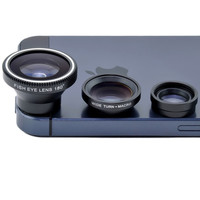 Magnetic  Fisheye Fish Eye + Wide Angle + Macro Mobile Phone Lens Camera  for iPhone 6 plus 4 4S 5 5S Samsung Galaxy S2 S3 S4 S5