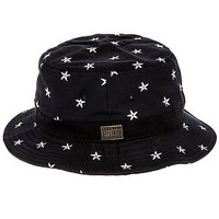 The Ninja Star Bucket Hat in Black