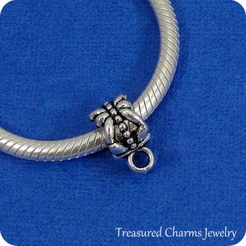 Silver Pewter Adapter Bead For European Charm Bracelets - Convert Any Traditional Charm to fit a European Bracelet