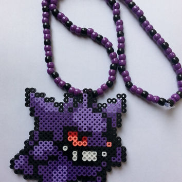 POKEMON gastly ,haunter , gingar kandi necklace/choose your pattern