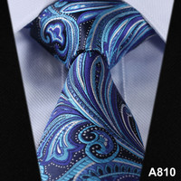 Paisley Floral 100%Silk Tie,Wedding Tie Party Jacquard Woven Classic Men's Tie Necktie #A8