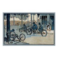 Vintage Bicycling Print