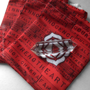 Muladhara Root Chakra Pouch, Reiki Pouch