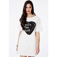Missguided - Penelopa You're The Shhh Heart Caviar Beaded Dress