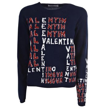Knitted Logo Sweater by Valentino