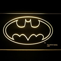 Batman Logo 2 LED Light sign Yellow Color = 1928035780