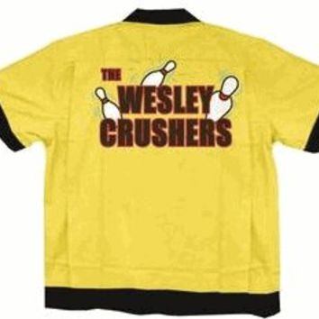 The Big Bang Theory Wesley Crushers Bowling Gold Adult Button Up Costume Shirt - Shirts Sheldon Has Worn - Free Shipping on orders over $60 | TV Store Online