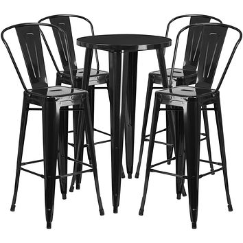 Indoor/Outdoor Bistro Style Cafe Pub Dining Set