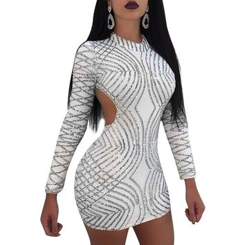 468d5696d5c 2018 Autumn Women Dress Long Sleeve Sexy Bodycon Club Outfit Min