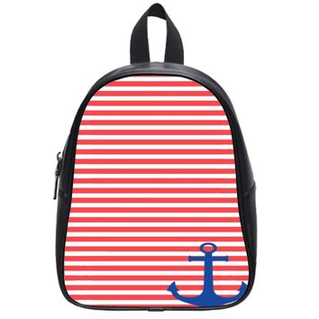Stripped Anchor School Backpack Large