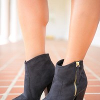Pink Coconut Boutique | Suede You To Be With Me Bootie - Black