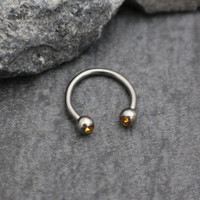 Topaz Septum Piercing, Septum Jewellery, Daith Earring, Daith Piercing, Conch Earring, Conch Hoop, Rook Jewelry, Rook Piercing, Crystal