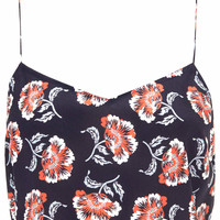 Navy Floral Bralet by Boutique