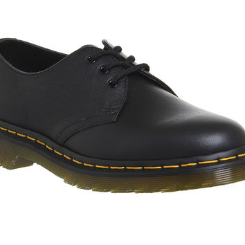 Dr. Martens 3 Eyelet Shoe Black Virginia - Flats