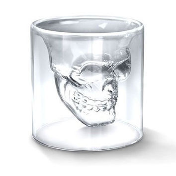 Transparent Crystal Skull Head Shot Glass Cup For Whiskey Wine Vodka Home Drinking Ware