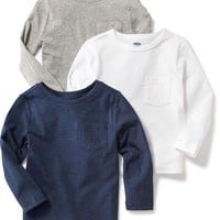 Crew-Neck Pocket Tee 3-Pack for Toddler | Old Navy