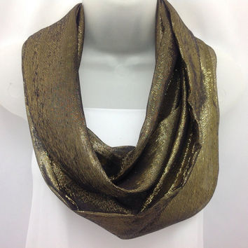 Black Gold Scarf /Gift for Coworker/ Wife / Daughter / Holiday gift / Birthday gift Friend  / Sister Mom  Boss