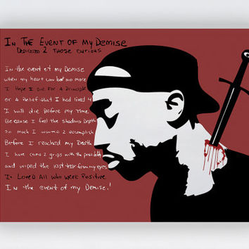 "Tupac Shakur 24 x 18"" Poster Wall Art Print - 2pac Music Legend Quote Print, Inspirational All Eyez On Me Artwork, Rap Music Hip Hop Poster"