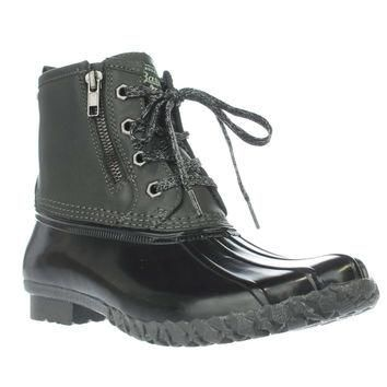 G.H. Bass & Co. Danielle Duck Rain Boots, Dark Grey/Black, 7 US / 38 EU