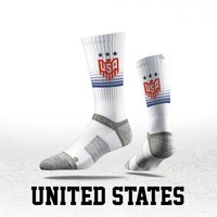Strideline® S Collection, USA Flag Crew Socks NEW
