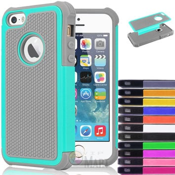 iPhone 5C Hybrid Shockproof Hard Rugged Heavy Duty Cover Case