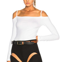 Helmut Lang Long Sleeve Top in Optic White | FWRD