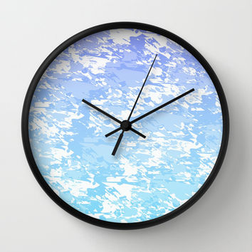 Purple and Blue Print Wall Clock by KCavender Designs