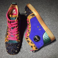 Cl Christian Louboutin Rythinestone Style #1927 Sneakers Fashion Shoes