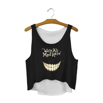 Alice in Wonderland Crop Top