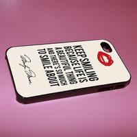 marilyn monroe smile quote iphone case for iphone 4/4s, iphone 5. iphone 5s. iphone 5c case
