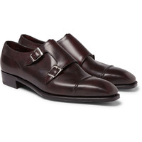 George Cleverley - Caine Leather Monk-Strap Shoes   MR PORTER
