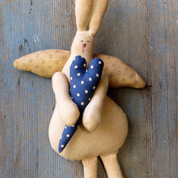 Primitive Bunny-Primitive Rag Doll-Primitive Doll-Primitive Rabbit-Valentine Bunny
