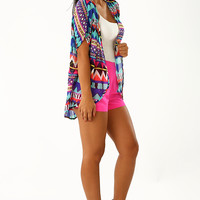 Paradise Escape Cardigan: Multi