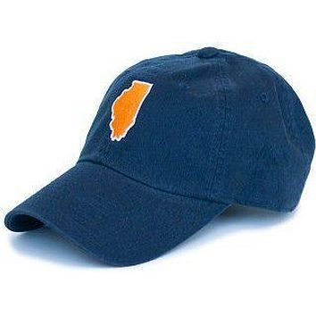 Illinois Champaign Gameday Hat in Navy by State Traditions