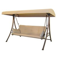 Hampton Bay, 3-Person Futon Patio Swing, S010047 at The Home Depot - Tablet