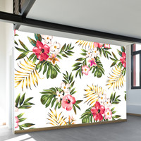 Tropical Flowers Two Wall Mural