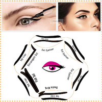 1pc Super Style Cat Eyeliner Stencil kit 6 model for eyebrows template the eye makeup a guide diy card