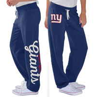 Women's G-III 4Her by Carl Banks Royal New York Giants Scrimmage Fleece Pants