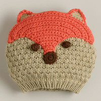 Tan and Coral Fox Hat