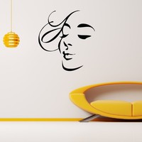 Wall Decal Vinyl Sticker Beauty Girl Hair Salon Spa Decor Sb478