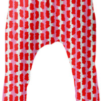 Pink Red White Funky Stripe Drop Pants created by Pasion4Fashion | Print All Over Me