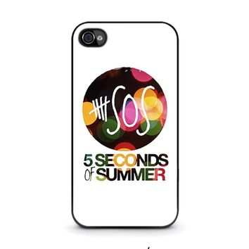 5 seconds of summer 5 5sos iphone 4 4s case cover  number 1
