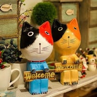 Animal Couple Cats Decoration Home Decor [6282290950]