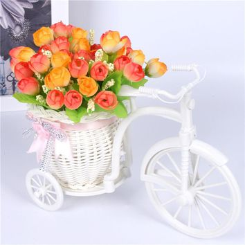 17 Style Flower Decoration with Rattan Vase