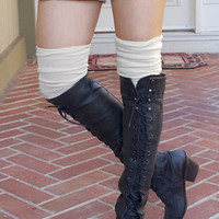 Hematite Black Lace Up Boots